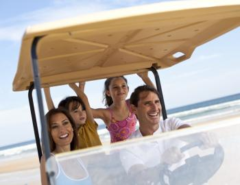 golf cart rentals at beach