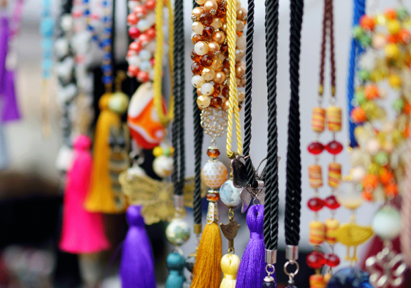 colorful handmade jewelry, colorful handmade necklaces
