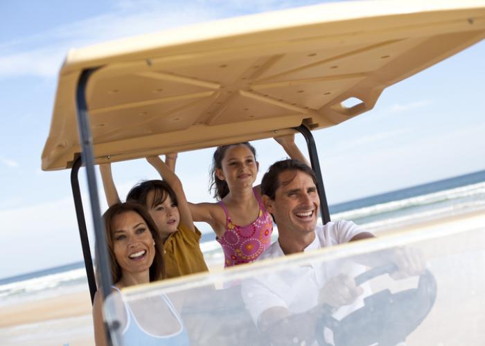 golf cart rentals at beach